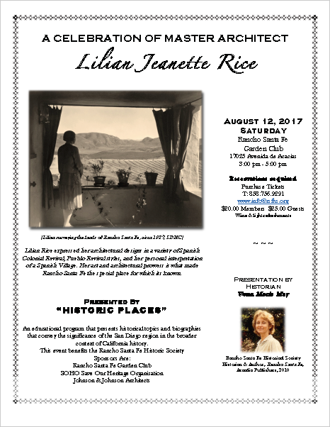 Lilian Jeanette Rice Presentation
